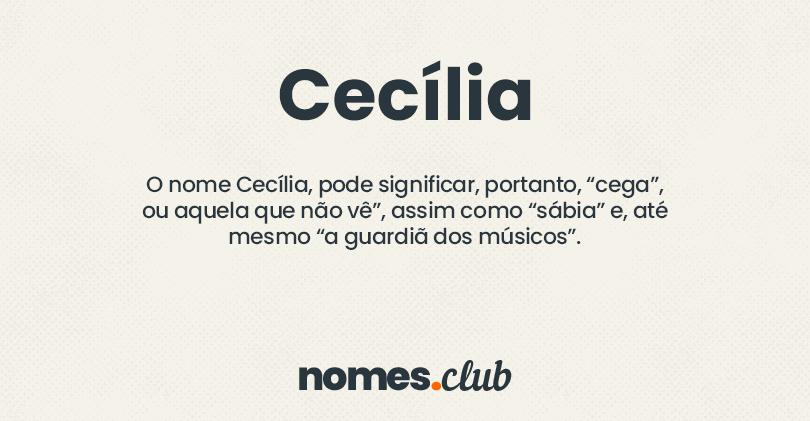Cecília significado
