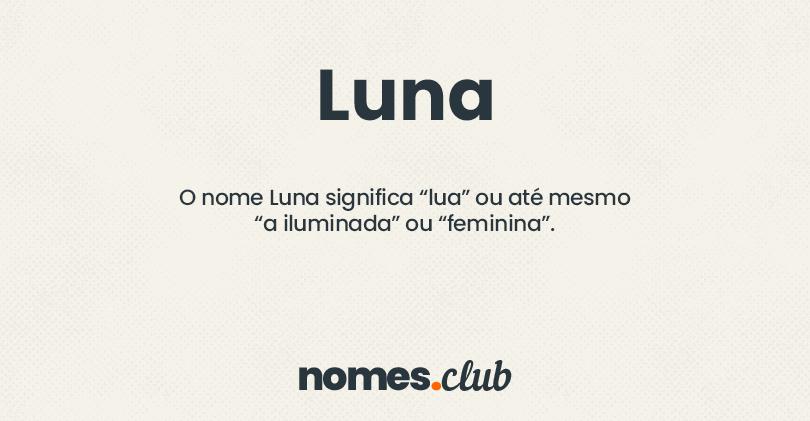 Luna significado