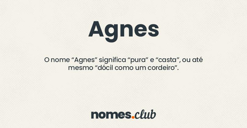 Agnes significado