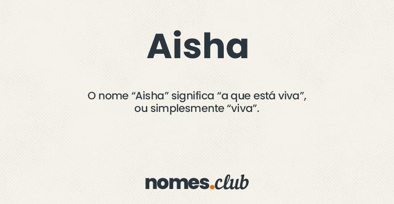 Aisha significado