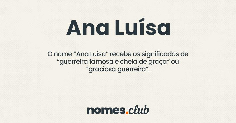 Ana Luísa significado