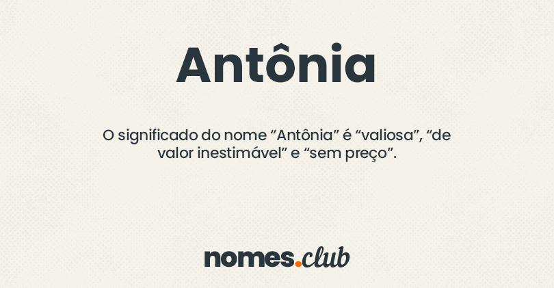 Antônia significado