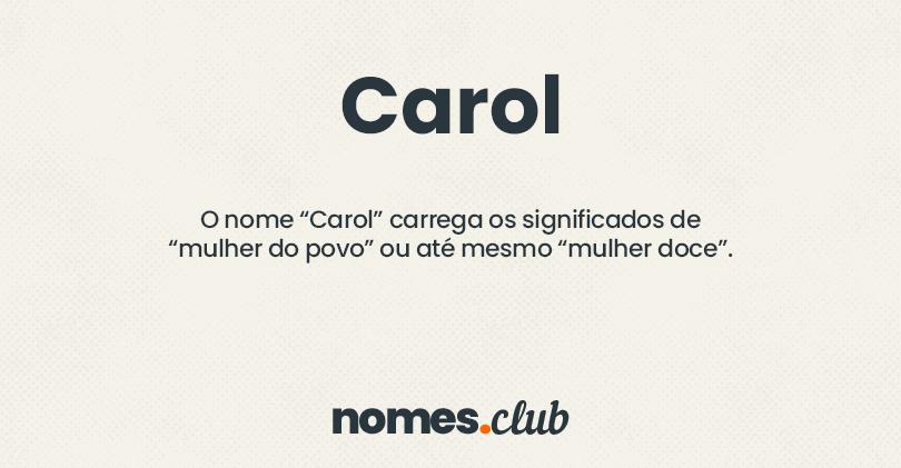 Carol significado