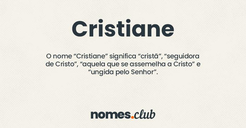 Cristiane significado