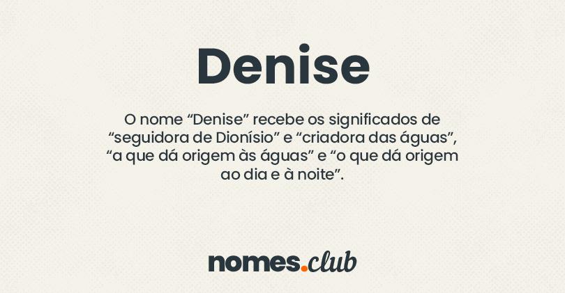 Denise significado