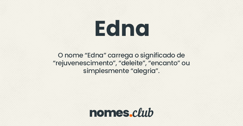 Edna significado