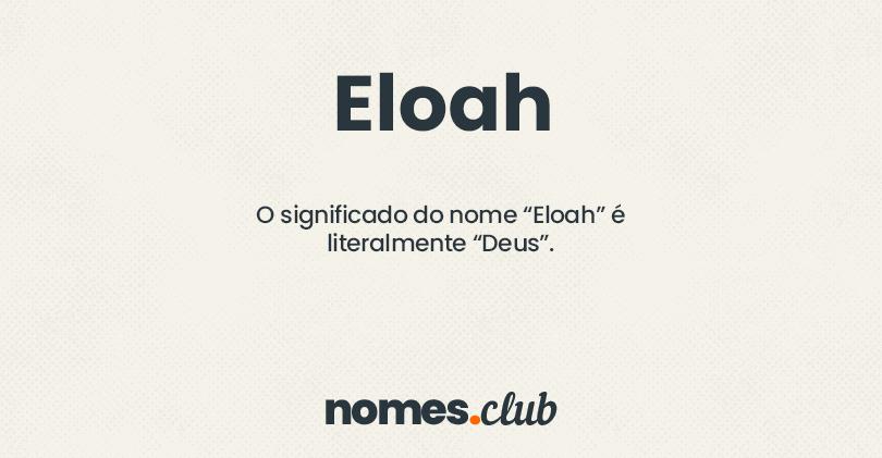 Eloah significado