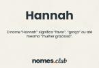 Hannah significado