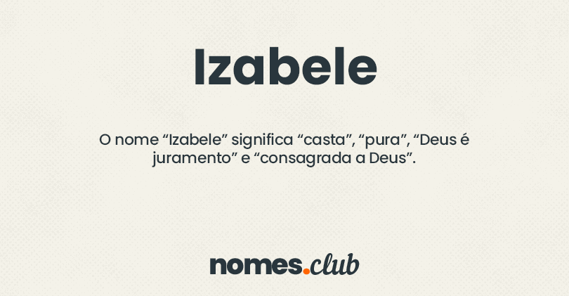Izabele significado