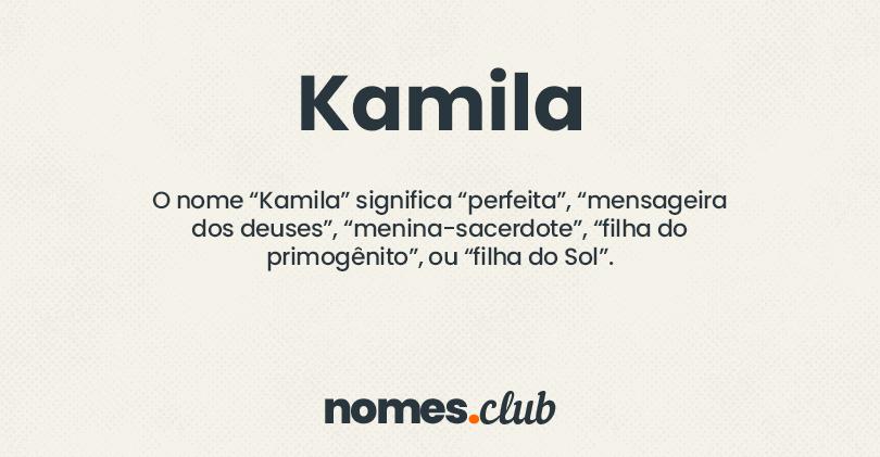 Kamila significado