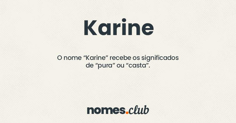 Karine significado