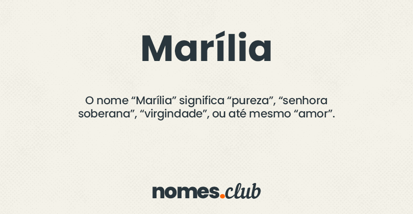 Marília significado