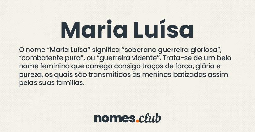 Maria Luísa significado