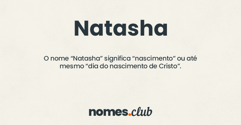Natasha significado