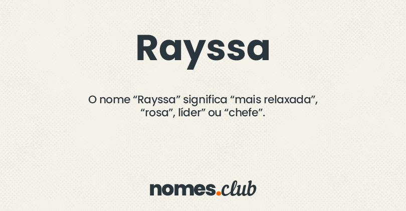 Rayssa significado