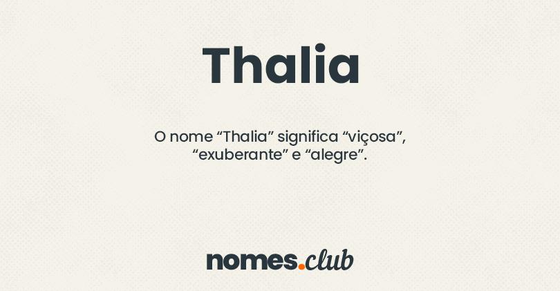 Thalia significado