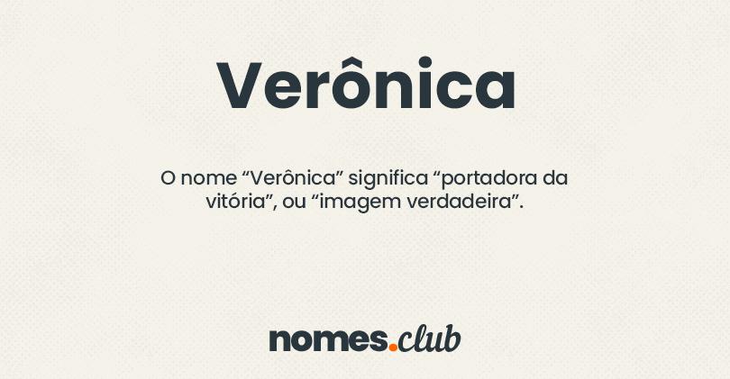 Verônica significado