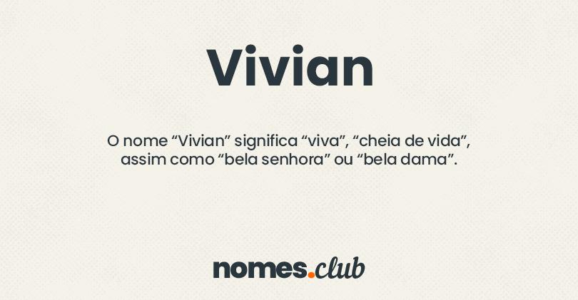 Vivian significado