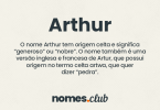 Arthur significado