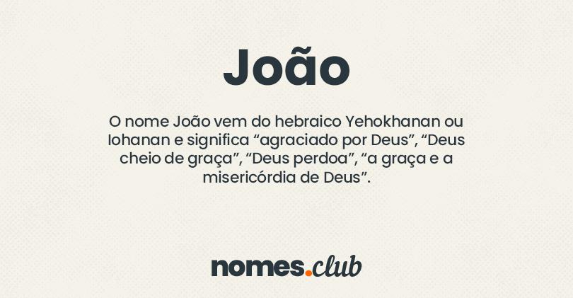 João significado