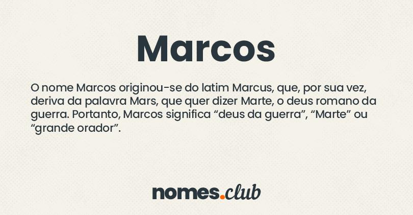 Marcos significado